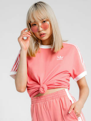 adidas 3 Stripes T-Shirt in Rose