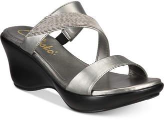 Callisto Preston Slide Platform Wedge Sandals