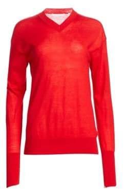 Helmut Lang Long Sleeve Cashmere V-Neck Sweater