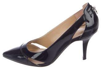 Michael Kors Patent Leather Cutout Pumps