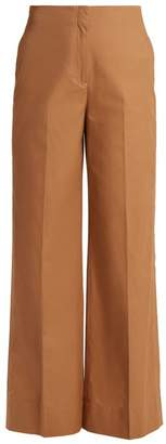 Elizabeth and James Maslin high-rise wide-leg cotton trousers