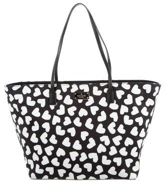 Kate Spade Kate Spade New York Margareta Heart Print Blake Avenue Black Tote