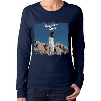 To-night Women Khalid American Teen Classic Music Band Fans Long Sleeves Tshirts Black