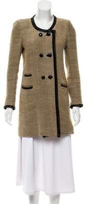 Isabel Marant Étoile Silk-Blend Herringbone Coat