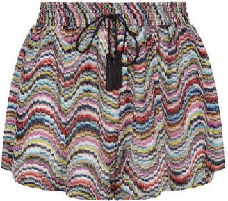 Missoni Mare Metallic Wave Pattern Shorts