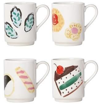 Kate Spade One Smart Cookie Mugs - Set Of 4