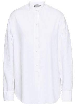 32adfdbb5abc8d Vince Cotton And Silk-blend Shirt