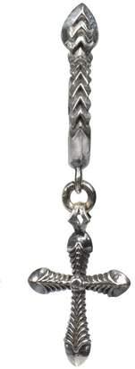 Emanuele Bicocchi Cross Silver Earring