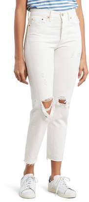 Levi's Wedgie Ripped High Waist Ankle Slim Jeans