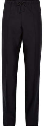 Dries Van Noten Slim-Fit Wool And Cotton-Blend Drawstring Trousers