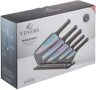 Viners Iridescent 5-Piece Knife Block Set