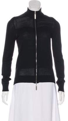 Christian Dior Mock Neck Zip-Up Sweater
