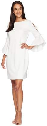 Lauren Ralph Lauren 130H Luxe Tech Crepe Demi 3/4 Sleeve Day Dress Women's Dress