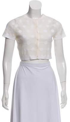 Alaia Silk Cropped Cardigan