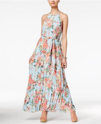 B Darlin Juniors' Pleated Maxi Dress $79 thestylecure.com