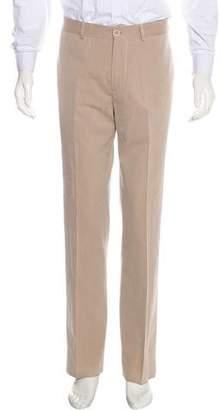 Brunello Cucinelli Twill Straight-Leg Pants