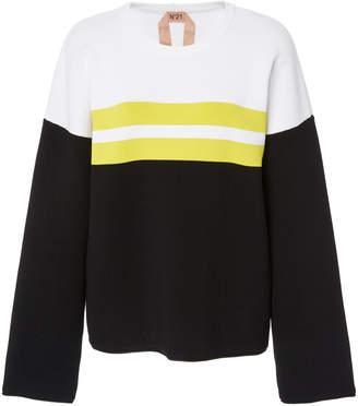 N°21 Erika Striped Crewneck Sweater