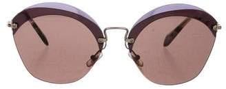 Miu Miu Tinted Rimless Sunglasses