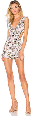 by the way. Callan Floral Cut Out Ruffle Romper
