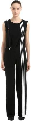 Y-3 3-Stripes Cotton Twill Jumpsuit