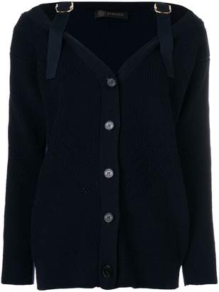 Versace adjustable strap cardigan