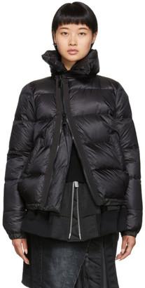 Sacai Black Down Puffer Jacket