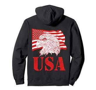 Vintage Eagle American USA Flag Retro Patriotic 4th of July Pullover Hoodie