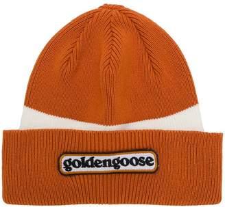 Golden Goose logo contrast beanie hat