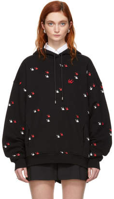 McQ Black Swallow Slouch Hoodie