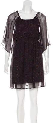 Alice + Olivia Silk Sheer Dress