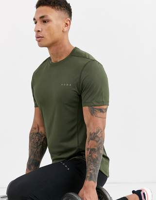 Asos 4505 training t-shirt with quick dry in khaki