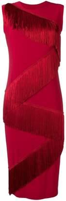 Norma Kamali zig-zag fringed dress