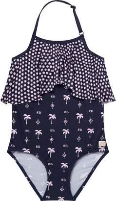 Scotch & Soda Printed Ruffle Swimsuit