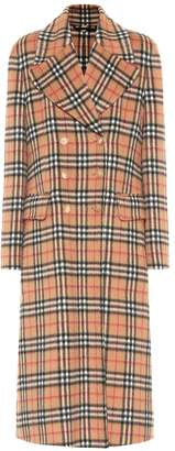 Burberry Vintage Check wool trench coat