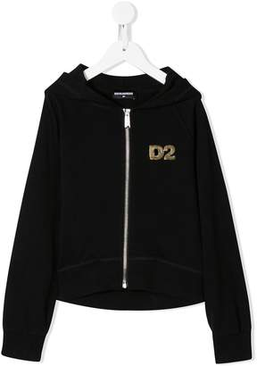 DSQUARED2 sequin logo hoodie