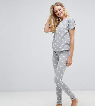 Asos Tall TALL Star Print Tee and Legging Pajama Set