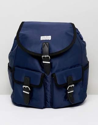 Jack Wills multi pocket nylon backpack