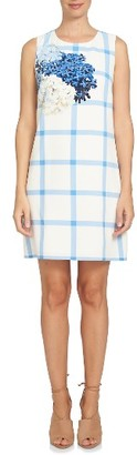 Women's Cece Trellis Hydrangea Shift Dress $129 thestylecure.com