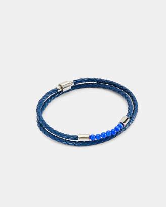 Ted Baker BEEDER Beaded leather wrap bracelet