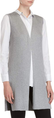 Vila Milano Sleeveless Ribbed Open Cardigan