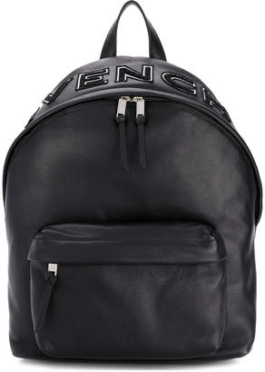 Givenchy small logo plaque backpack