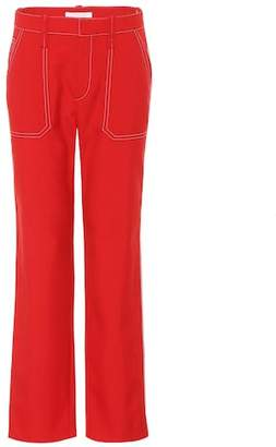 Chloé Wool-blend straight-leg trousers