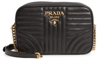 Prada Impunture Quilted Leather Camera Bag