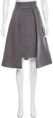 Osman Asymmetrical Knit Skirt