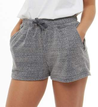 Board Angels Womens Marl Terry Fleece Shorts Navy