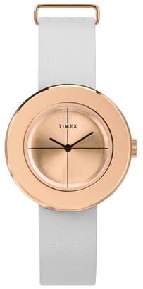 Timex Variety Leather Strap Watch Set, 34mm