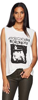 Pam & Gela Women's Sentimental Anarchist Crew Neck Tank