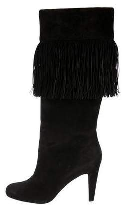 Christian Louboutin Fringe Knee-High Boots