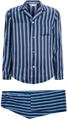 Derek Rose Silk Stripe Pyjama Set