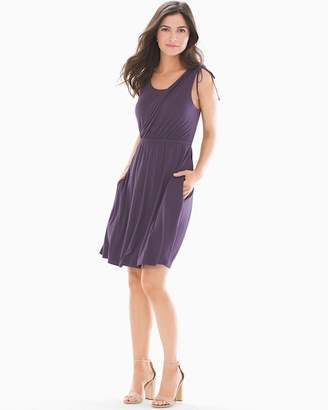 Soft Jersey Shoulder Detail Dress Nightshade